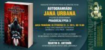 Pozvánka na autogramiádu Jana Urbana a křest jeho knihy